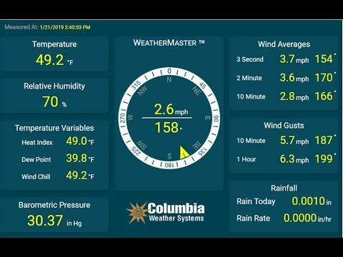 Weather Master™ Software for PC   Columbia Weather Systems