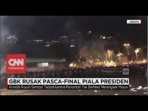 GBK Rusak Pasca - Final Piala Presiden Persija vs Bali United