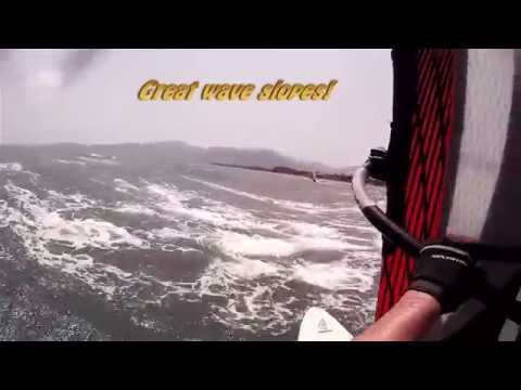 SJ4000 windsurfing wave action