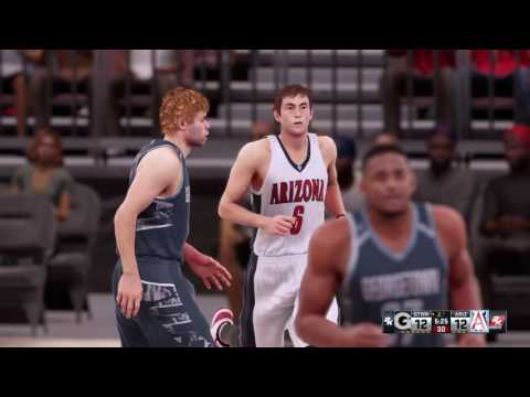 NBA 2K16 - Segundo partido universitario Georgetown vs Arizona.