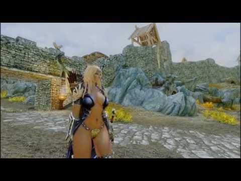 Skyrim Tera armor mod and HDT physics mod