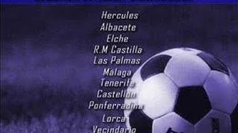 primera y segunda División clasificación