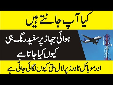 Why Aeroplane Colour is White  - Urdu Informations About Aeroplane
