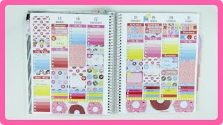 PLAN WITH ME | DONUTS GALORE // PLUM PAPER PLANNER