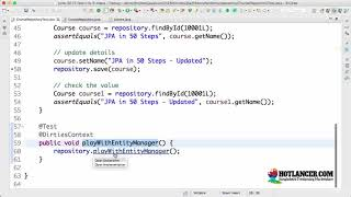 055 Step 11   Playing with Entity Manager