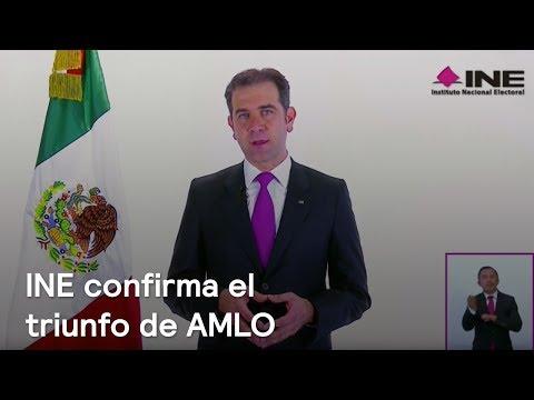 El INE ratifica la victoria electoral de Andrés Manuel López Obrador