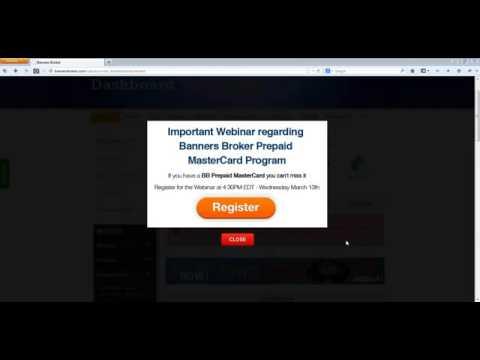Banners Broker Prepaid Card Announcement - YouTube