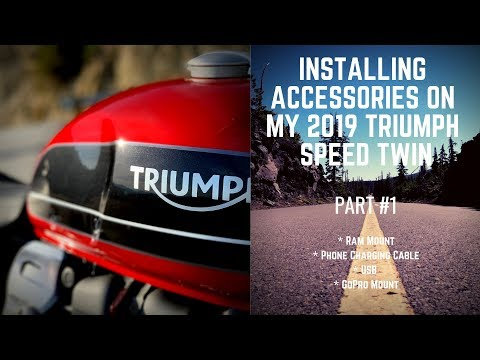 2019 Triumph Speed Twin Accessory's Install Part 1
