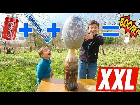 CHALLENGE COCA-MENTOS GÉANT BALLON EXPLOSION !!! - EXPÉRIENCE XXL