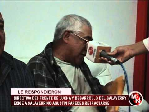 DIRECTIVA DEL FRENTE DE LUCHA Y DESAROLLLO DE SALAVERRY SE PRONUNCIA