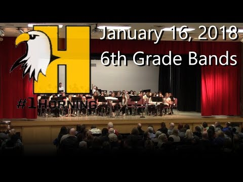 1-16-2018 Horning Middle School 6th Grade Band Concert