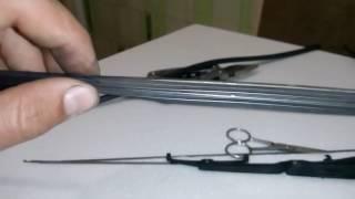 видео Замена резинок на щетках стеклоочистителя своими руками