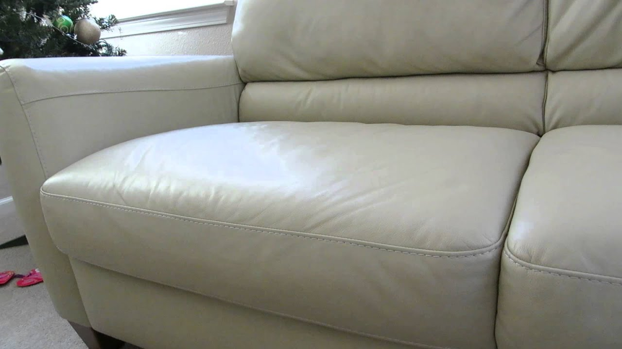 Review Of The Macys Almafi Leather Lime Green Sofa   YouTube