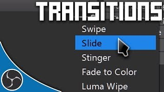 OBS Course 131 - TRANSITIONS - How to create and use Stinger Transitions in OBS (Tutorial & Guide)