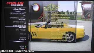 Cars and Tracks from Test Drive: Ferrari Racing Legends (Preview Version)