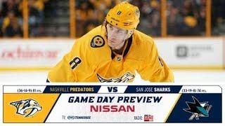 NHL 18 PS4. REGULAR SEASON 2017-2018: San Jose SHARKS VS Nashville PREDATORS. 02.22.2018. (NBCSN) !