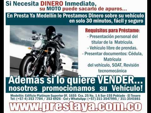 Prestamos de dinero sobre Vehiculos: Motos y carros, Avance de Tarjeta de Credito PRESTA YA MEDELLIN de YouTube · Duración:  2 minutos 11 segundos