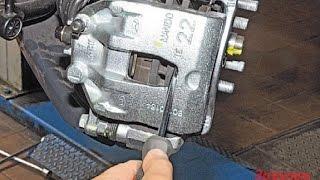 замена передних тормозных колодок на киа рио