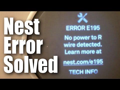 How I Fixed The Nest Thermostat E Error E195 No Power To