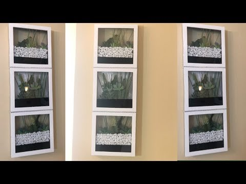 Dollar Tree DIY || Spring Wall Terrarium || 2019 Home Decor