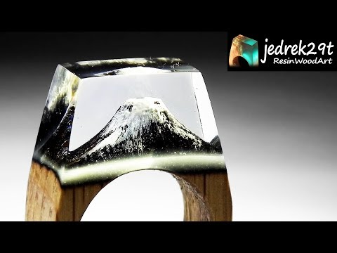 Volcano Ring 💍 from Epoxy Resin / RESIN ART