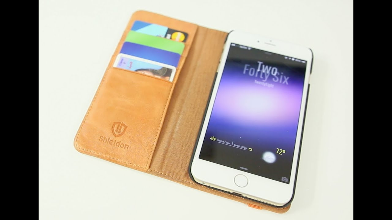 best sneakers 6d8b1 e0bd0 Shieldon Leather Wallet iPhone 6 Plus Case