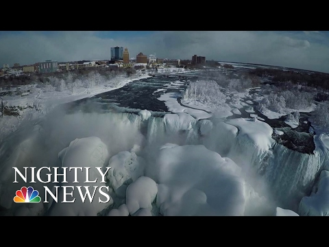 Watch a Drone Fly Around the Majestic Frozen Niagara Falls