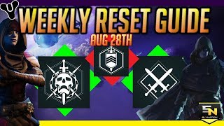 Destiny 2 | Weekly Reset Guide (Aug 28th)- Year 2 Has Arrived!