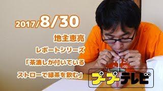 茶漉しが付いているストローで緑茶を飲む(プTV) thumbnail