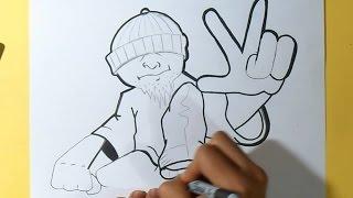como desenhar um personagem cholo #3 Grafite - by Wörld
