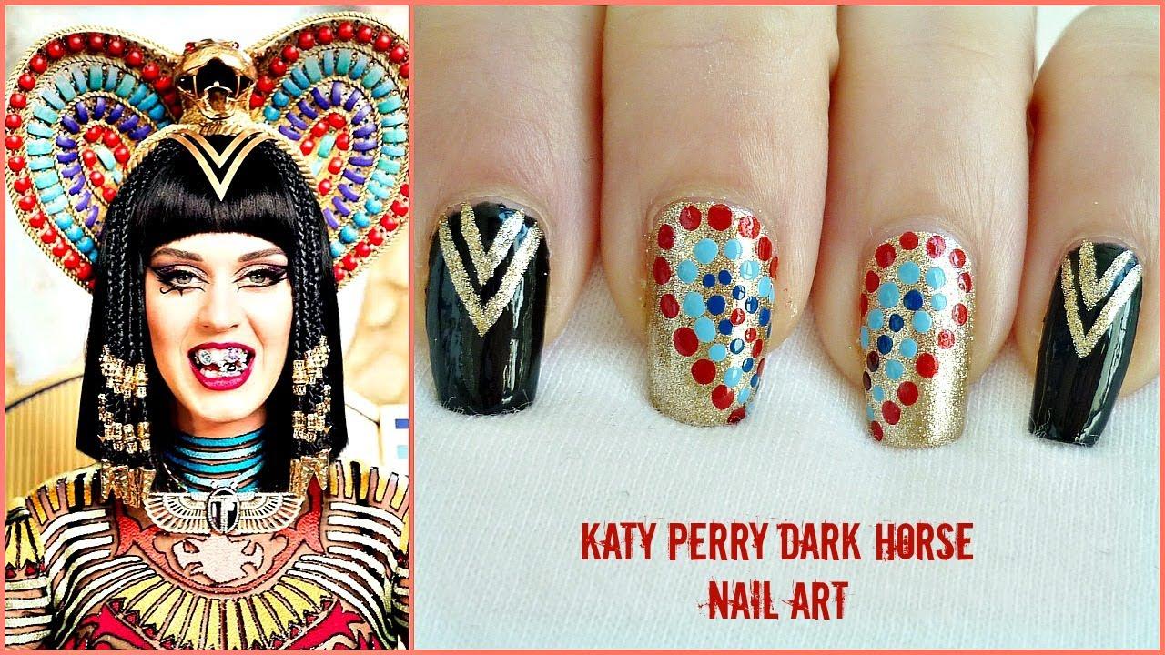 Katy Perry Dark Horse Nail Art Tutorial! - YouTube