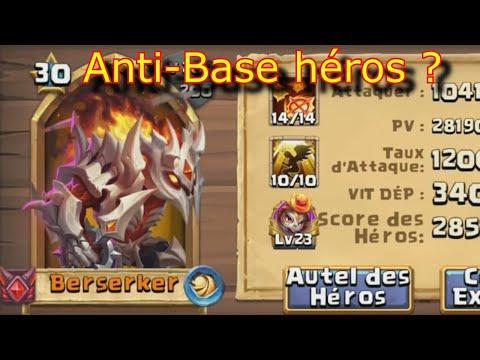 Berserker Héros ANTI-BASE ? Castle Clash
