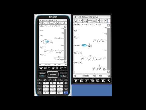 Classpad fx-CP400 Action/Interactive Menus, Part II