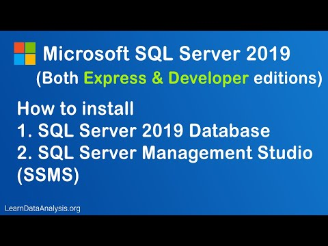 How To Download And Install Microsoft SQL Server 2019 Database And SQL Server Management Studio