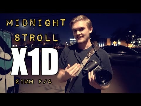 Shooting at Midnight with the X1D and 21mm f/4. My Son and I Shoot all night at ISO 25,600