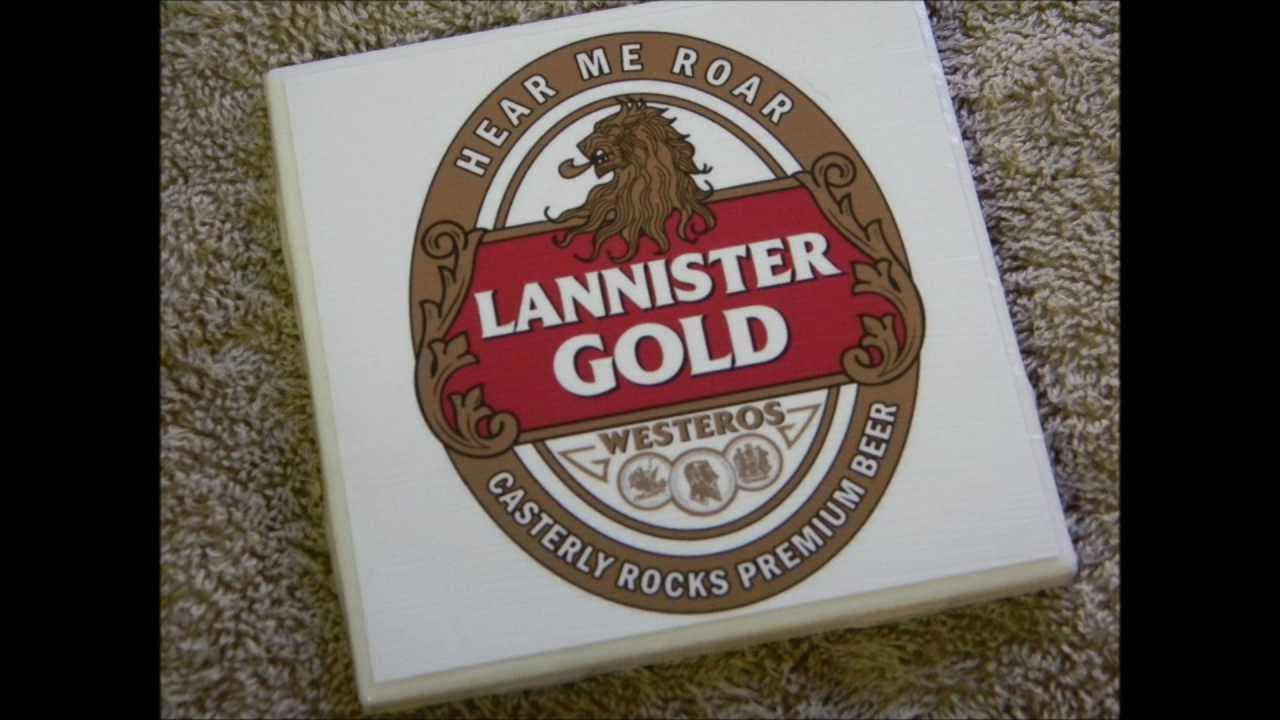 game of thrones beer coasters lannister baratheon game of thrones beer coasters youtube