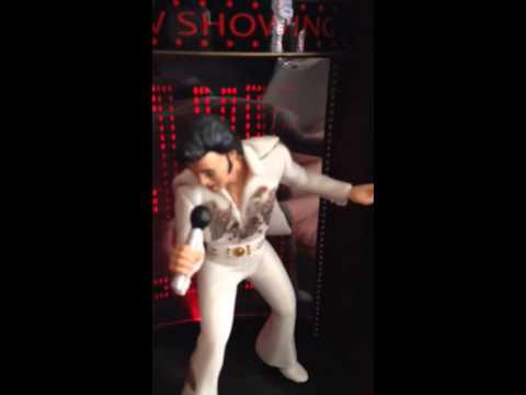 Elvis sings in Vegas Christmas Ornament