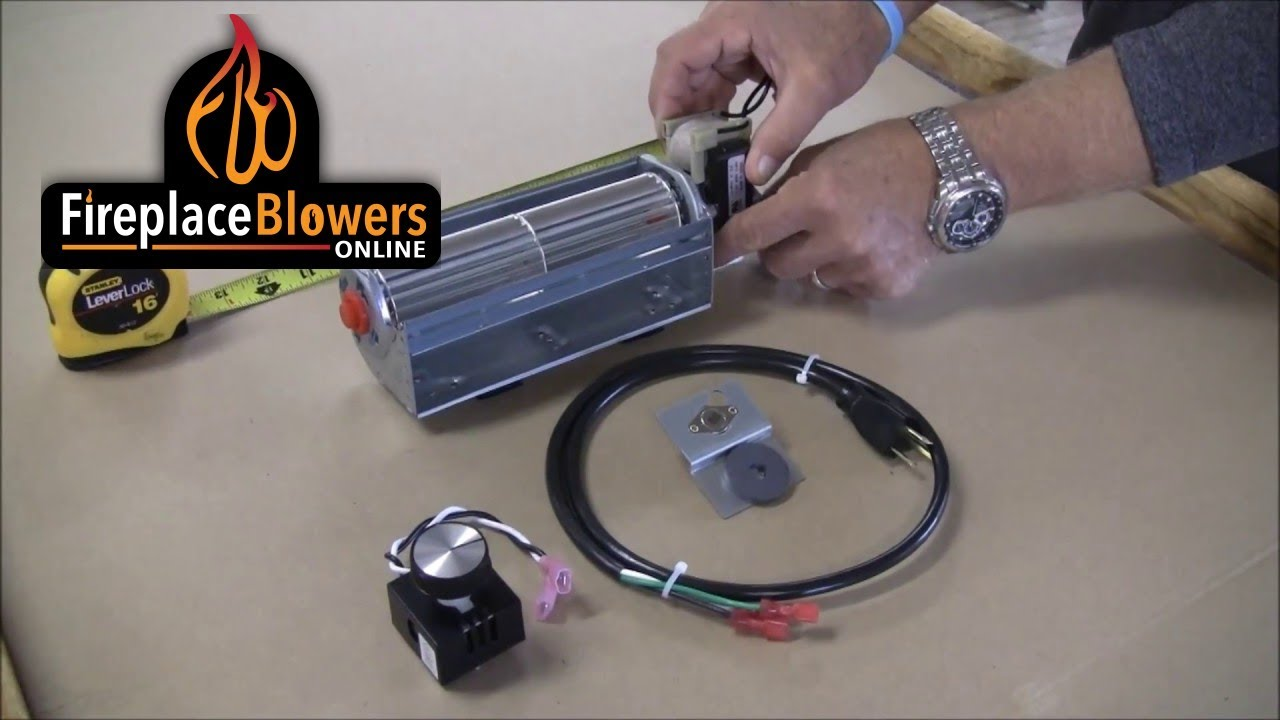 lp 4500 low profile fireplace blower kit overview youtube