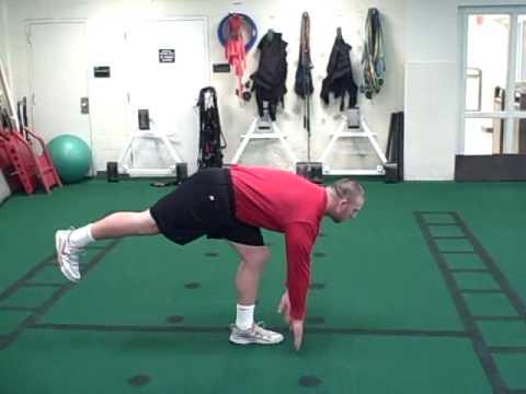 Single Leg Hands Down Hamstring (Stationary Dynamic)
