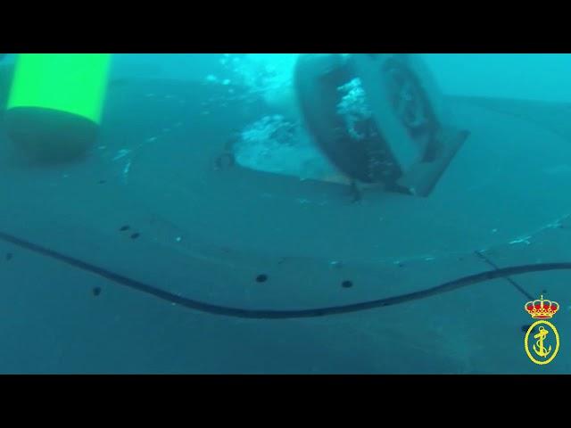 Ejercicio de suministro de POD a un submarino - Armada Española
