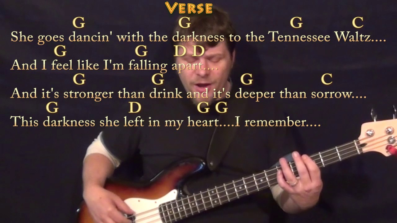 Tennessee Waltz Bass Guitar Cover Lesson In G With Chordslyrics