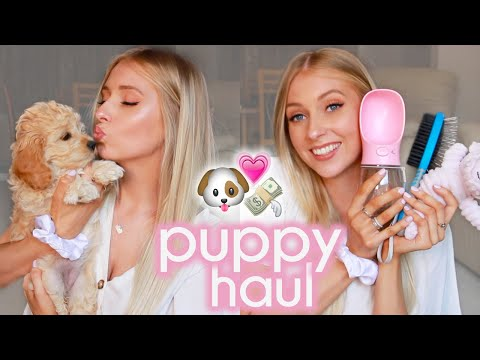 EVERYTHING I BOUGHT FOR MY NEW PUPPY  Puppy Haul Essentials