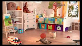 My Little Kitten Pet Care Colours For Kids Children Toddlers   Kids Learn Colors Baby Play Videos