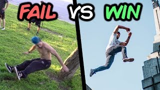 Best Wins vs Fails Compilation (Parkour, Trampoline)