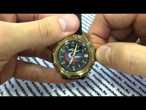 Часы Восток Командирские 819260 - видео обзор часов с символикой ВВС от PresidentWatches.Ru