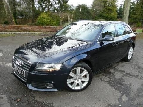 2010 audi a4 avant se 2 0 tdi manual in blue youtube. Black Bedroom Furniture Sets. Home Design Ideas