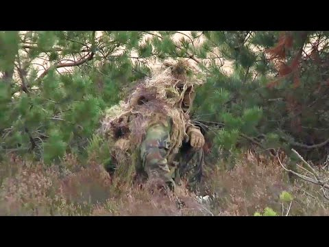 American Army Sniper — Rifle Shoot & Ghillie Suit Camouflage Training