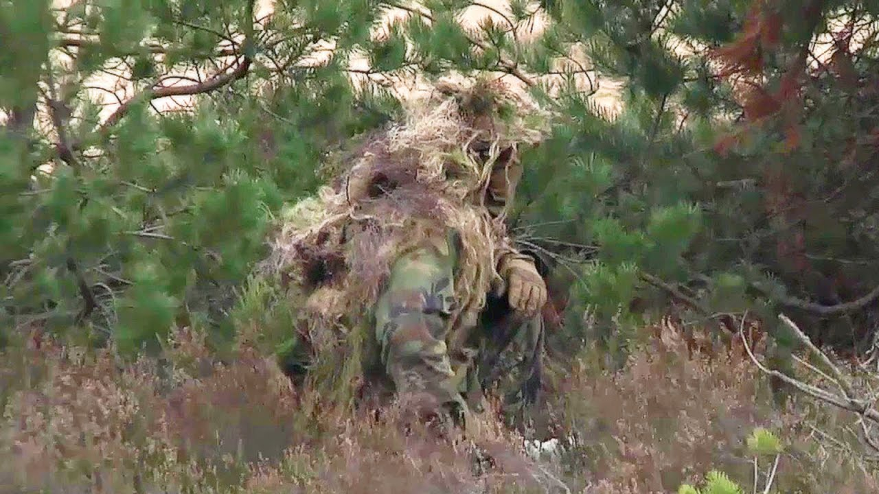 4af0b106c426d American Army Sniper — Rifle Shoot & Ghillie Suit Camouflage Training -  YouTube