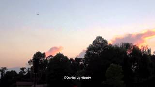 Distant Weakening Storms (Time-Lapse)
