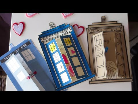 DIY TARDIS Valentines Day Cards   YouTube